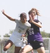Senior forward Kavita Battan fights for possession during Sunday's game against Grand Canyon at Guy Wicks Field.